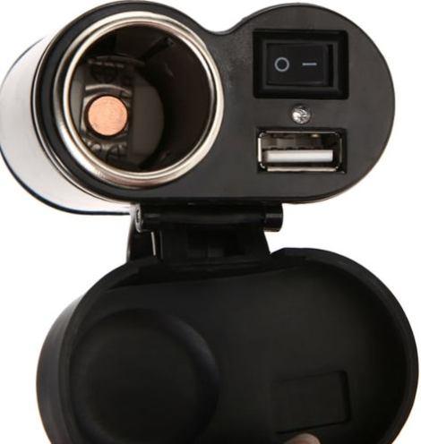 Kit Cargador Usb  Universal Para Moto + Soporte Para Celular en Web Electro