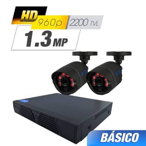 Kit Cctv 2 Cámaras Ahd 1.3 Mp  2200 Tvl Dvr Grabador Video en Web Electro