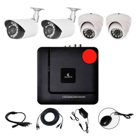 Kit Cctv Ahd Video Hd 720p Dvr 4 Camaras Circuito Vigilancia