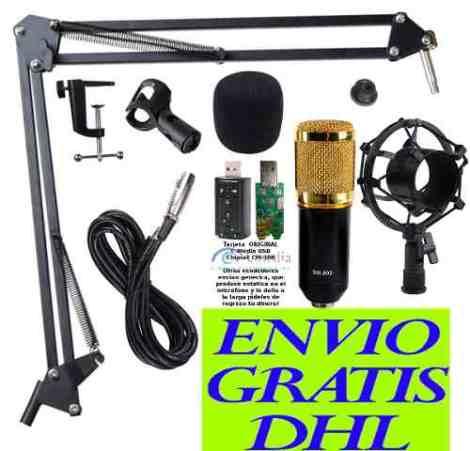 Kit Microfono Condensador Bm800 Brazo Articulado Tarjeta Usb en Web Electro