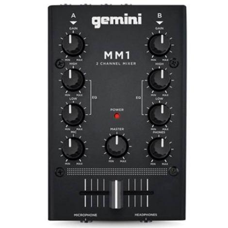 Mezcladora Dos Canales Estereo Compacto Portatil Mm1 Gemini en Web Electro