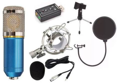 Micrófono Bm800 Metal No Plástico
