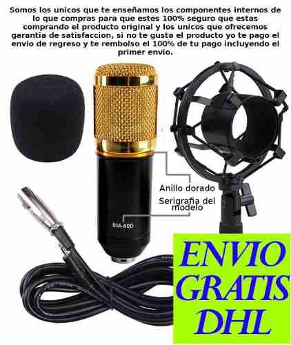 Micrófono Condensador Bm800 Bm-800 Estudio – Podcast – Canto en Web Electro