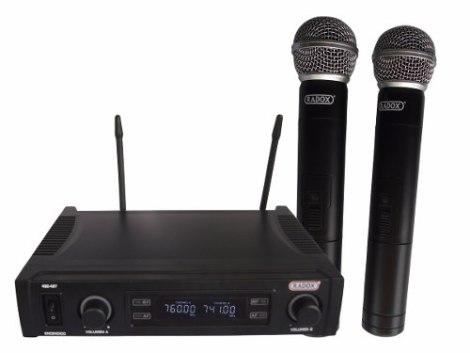 Microfonos Inalambricos Dobles Mod. 490-497 Uhf Gran Alcance en Web Electro