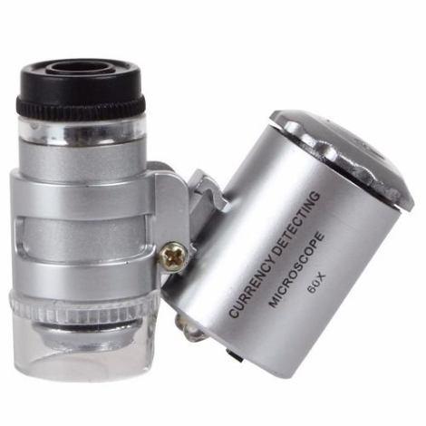 Microscopio Portatil Luz Led Uv Detecta Billete Falso 60x en Web Electro