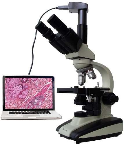 Microscopio Tricular Y Binocular 2500x Quasar Profesional en Web Electro