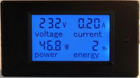 Multimetro Medidor Factor De Potencia Voltaje Corriente 100a en Web Electro