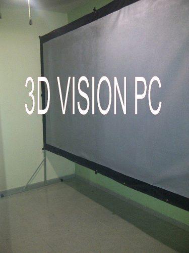 Pantalla De Proyeccion 3d 3.20 X 1.70 Mts Con Base Portatil en Web Electro