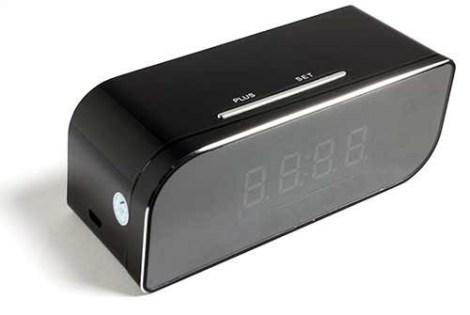 Reloj Espia Despertador Wifi Vision Nocturna Fullhd Ip P2p