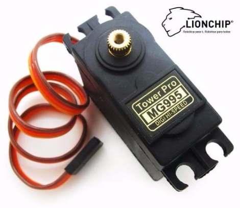 Servomotor 15 Kg Torque Mg995 Mg 995 Lionchip Con Accesorios en Web Electro
