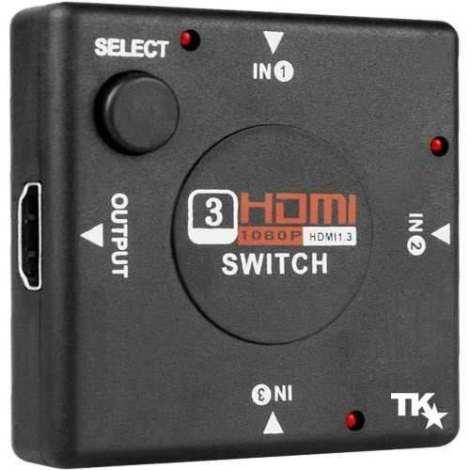 Switch Selector Hdmi 3 Puertos 1080p Conmutador De Splitter