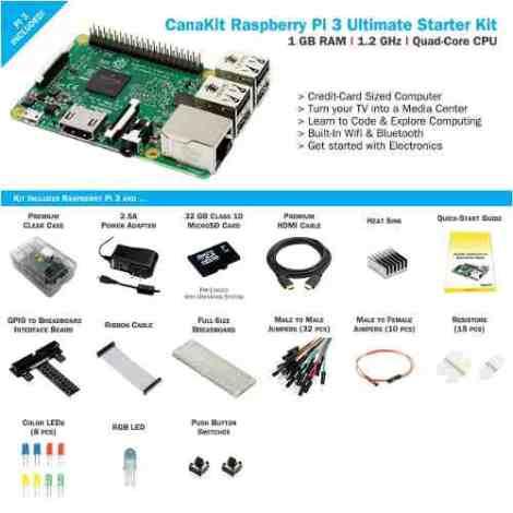 Kit Inicio Canakit Raspberry Pi 3 Ultimate Starter 32gb en Web Electro