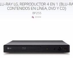 Reproductor Bluray Lg Bp255 en Web Electro