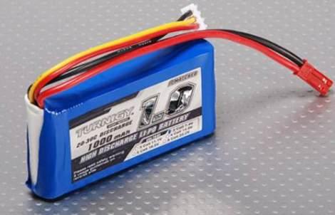 Bateria Lipo 1000mah 7.4v 2s Recargable 20c Turnigy
