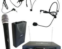 Set De Microfonos Inalambricos De Solapa/diadema Y Mano Dj