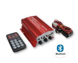 Mini Amplificador Para Moto Usb Bluetooth Auxiliar Control