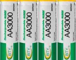Paquete Con 4 Baterías Recargables Aa De 3000mah Pilas Ni-mh