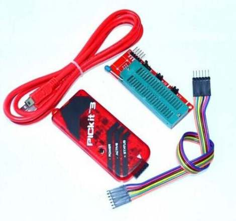 Pickit3 + Cable Icsp + Base Zif 40 + Cable Usb