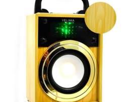 Velikka Bocina Recargable Usb Radio Fm Vkk-2028 Mini Madera