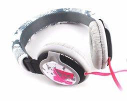 Audifonos Diadema Mp3 Celular 3.5 Cable Plano Mt-hf03p Rosa