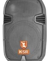 Bafle Plastificado Amplificado Usb/sd Display Bocina 12 Ksr