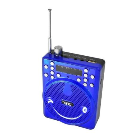 Bocina Portatil Recargable Usb Radio Fm Megafono Vk2015 Azul