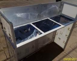 Cabina Dj Blanca 1 Mesa Aluminio Y Policarbonato Envío Grati