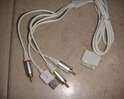 Cable Av Usb Ipod Classic Nano Touch Iphone 3 4 3g 4s Video