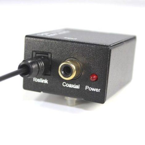 Convertidor Audio Digital Toslink / Coaxial A Analogo Rca