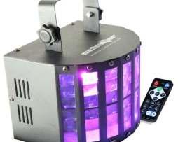 Luz Disco Led Mini Derby 6 Colores Control Remoto Karaoke