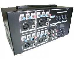 Mezcladora Amplificada Usb Sd Con Display Digital 4 Canales