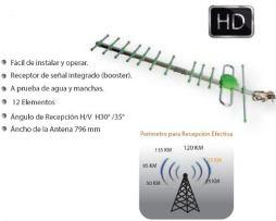 Antena Aerea Hd 75km Yaguimax Digital 12 Elementos S/ Cable