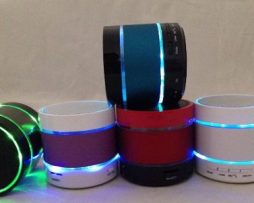 Bocina Bluetooth Con Aros De Luz Led !!! La Mas Padre Y Bara