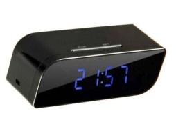 Camara Wifi Ip Reloj Espia Forma Despertador Vision Nocturna