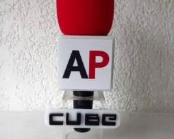 Cubo Chico Para Microfono Rotulado