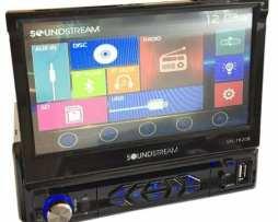 Pantalla Soundstream 1 Din Motorizada Bluetooth Touch Scree