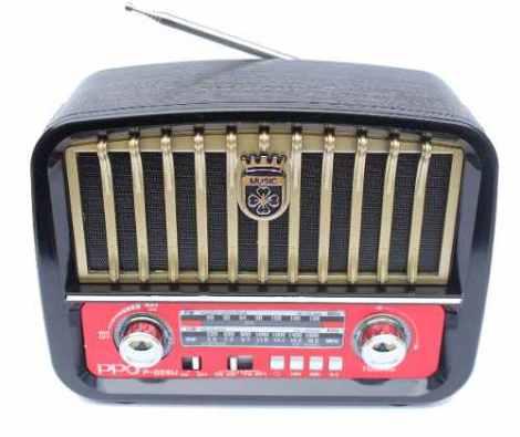 Radio Recargable Tipo Vintage Bluetooth Onda Corta Ppo