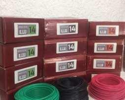 Rollo De Cable Calibre 14 Rojo Verde Negro