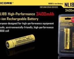 Batería Recargable Nitecore Nl189 18650 De 3.7v Y 3400mah