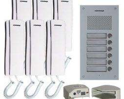 Commax Portero De Audio Para Edificio Con 6 Interfonos