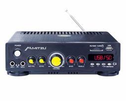Amplificador Mitzu Pa-620usb Usb Sd Fm 180w 2 Micrófonos
