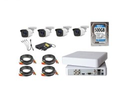 Kit Video Vigilancia 4 Cámaras Hd 720p 1mp Disco Duro 500gb