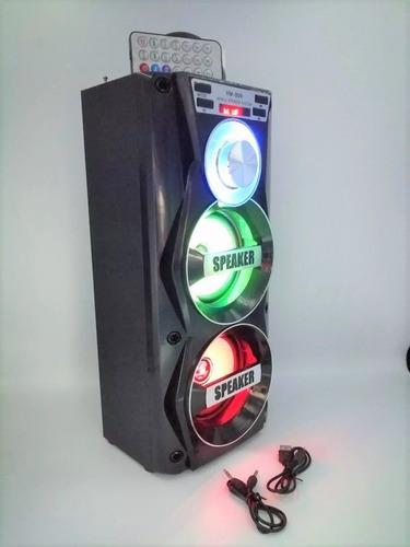 Bocina Speker Portatil Con Luz Led Control Remoto