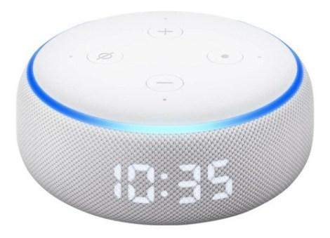 Bocina Alexa Echo Dot 3ra Gen Inteligente Con Reloj Español