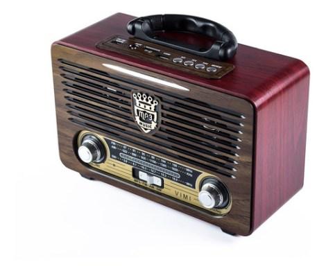 Bocina Retro Vintage Usb Bluetooth Recargable Mp3 Radio Fm