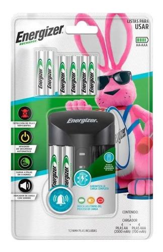 Cargador Energizer Pro +4 Pilas Aa +4 Pilas Aaa Recargables