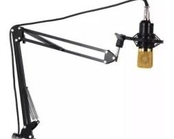 Base Escritorio Brazo Soporte Microfono Estudio Profesional