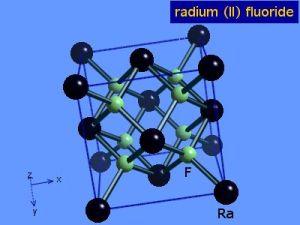 WebElements Periodic Table » Radium » radium difluoride