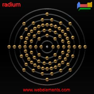 Radium»properties of free atoms [WebElements Periodic Table]