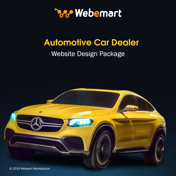 Automotive Car Dealer Website Design Package Webemart Marketplace
